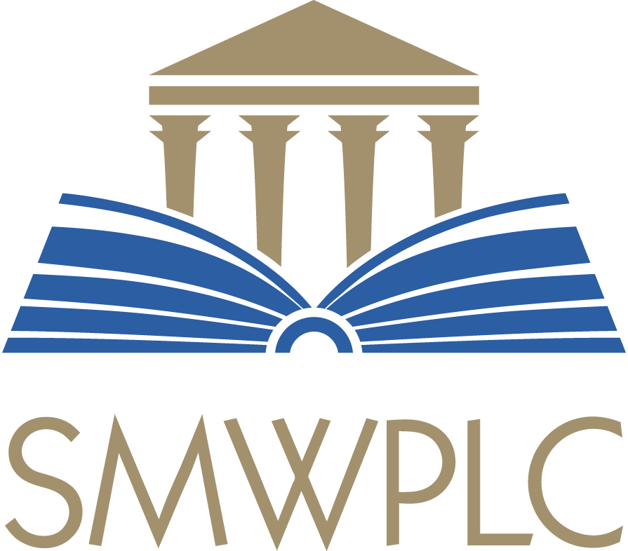 Logo for Sheila M. Wilkinson, PLC - Courthouse with an Open Book
